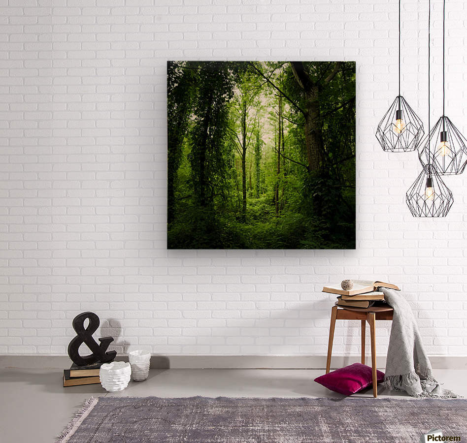 Pure oxygen   Wood print