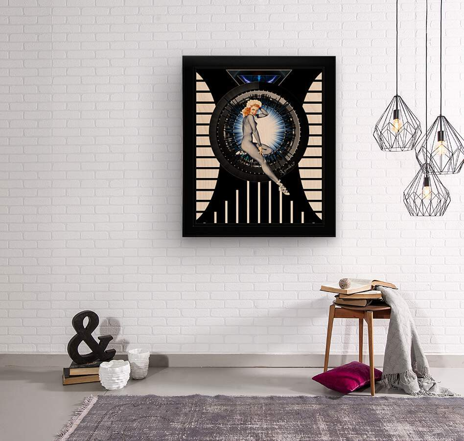 Sitting Pretty With Tech by Xzendor7 Digital Art  Wood print