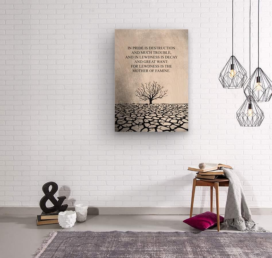 Tobit Parched Land Motivational Wall Art  Wood print