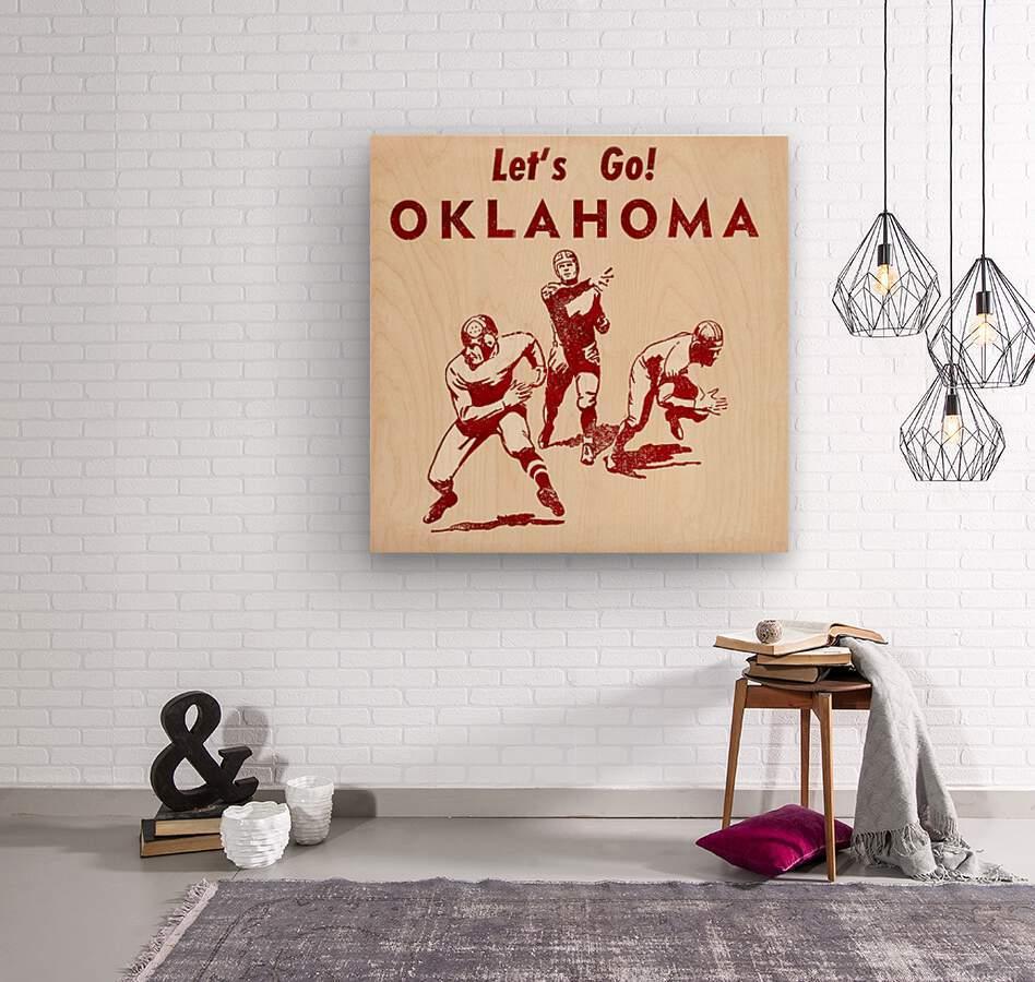 1952 Vintage Oklahoma Football Art  Wood print