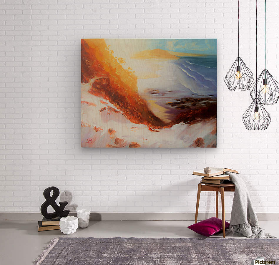 MiraculoussunsetProctorBeach  Wood print