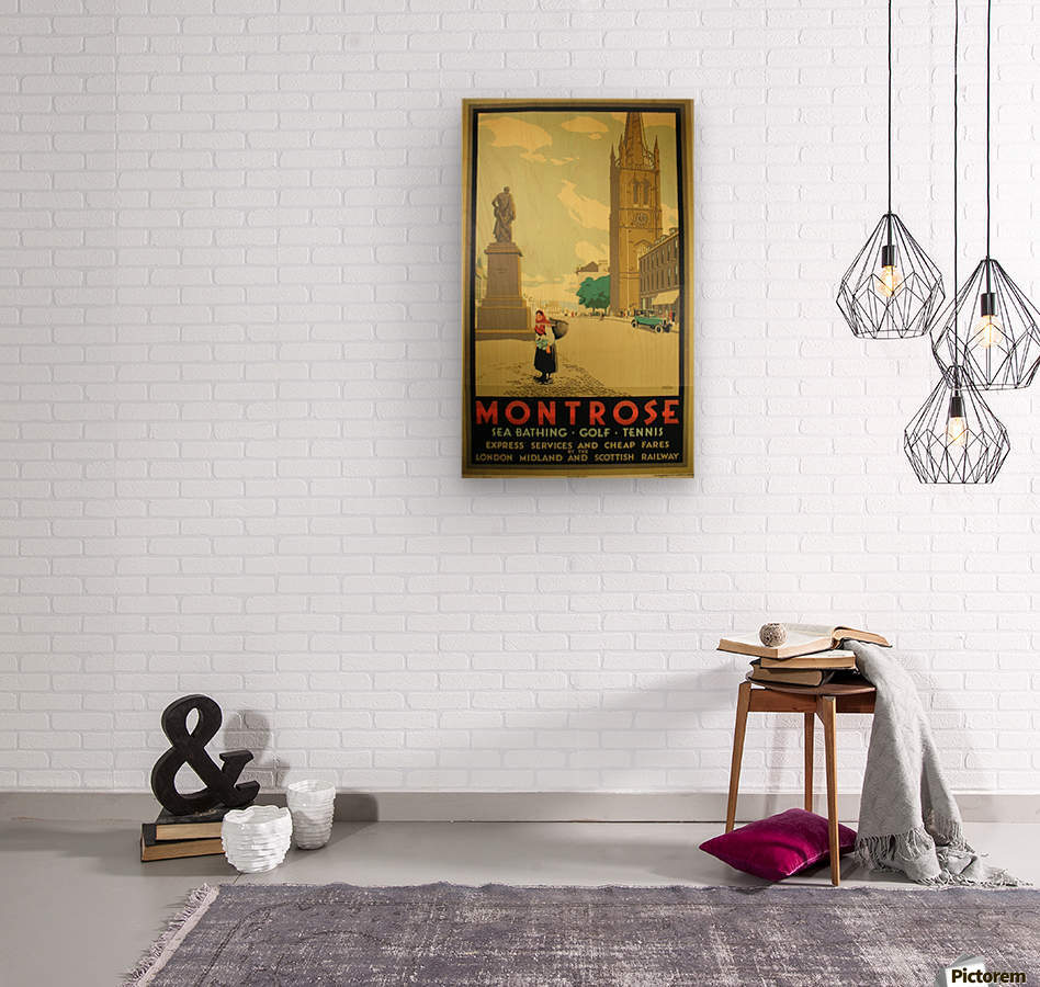 Montrose vintage travel poster  Wood print