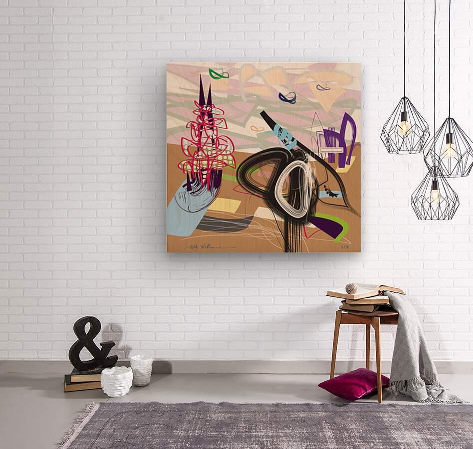 Purple Wispers  Wood print