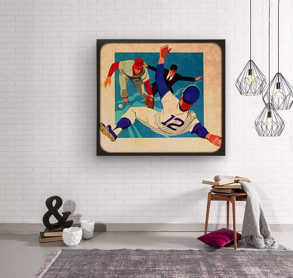 1981 Retro Viewfinder Slide Baseball Art  Wood print