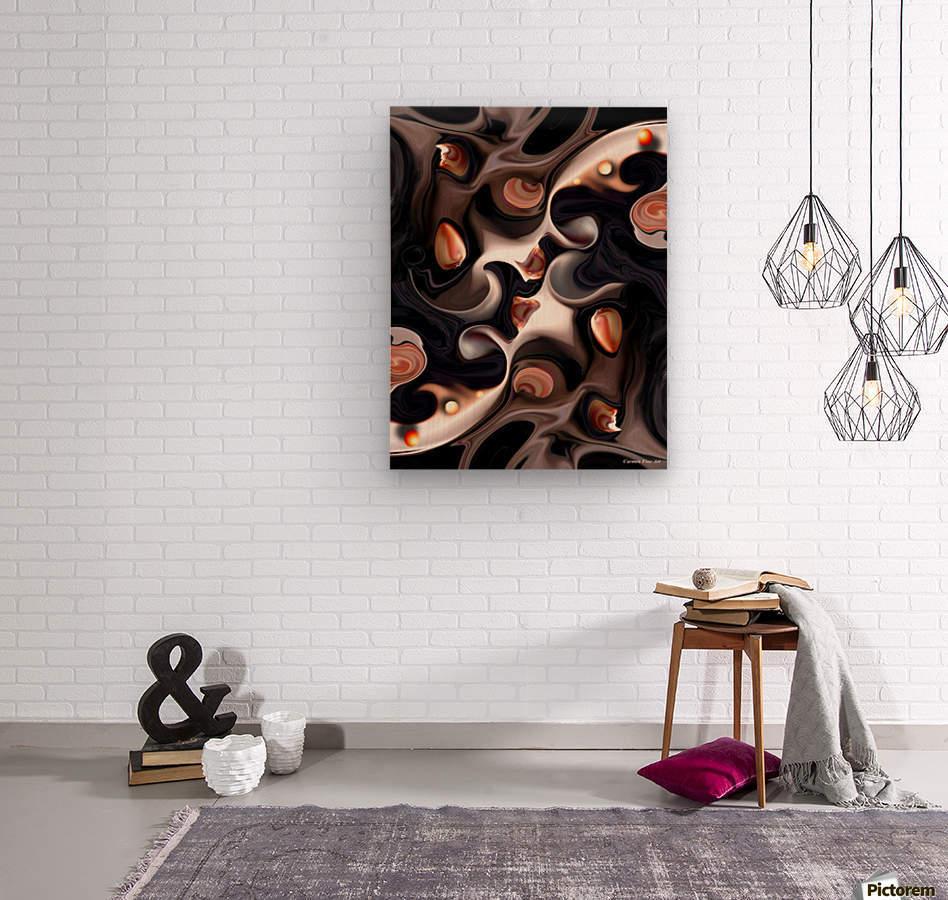 False Execution Decomposed  Wood print
