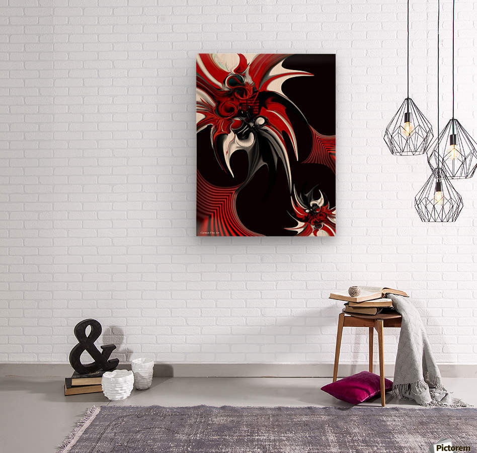 Red & Black Formation  Wood print