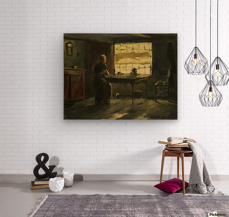 Farmhouse interior  Wood print