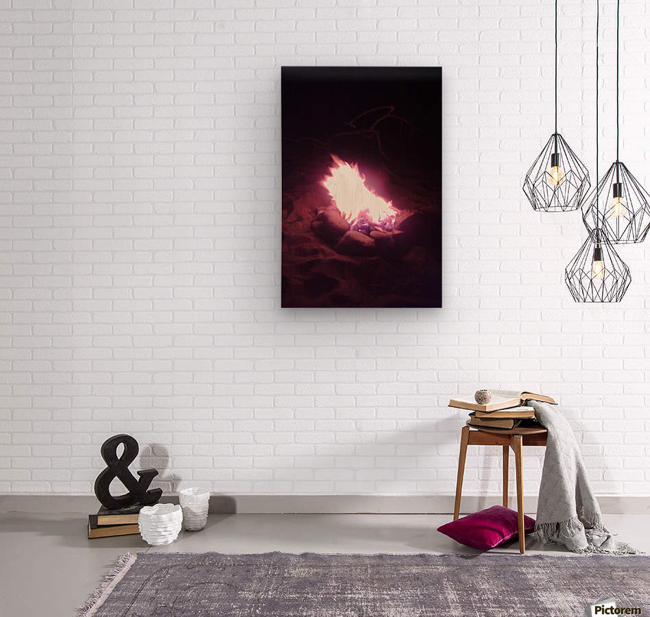 Fired  Wood print