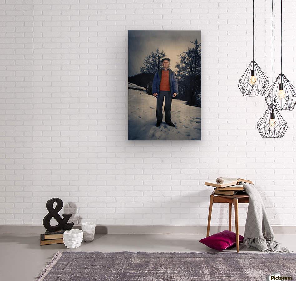 Sunday in winter  Wood print