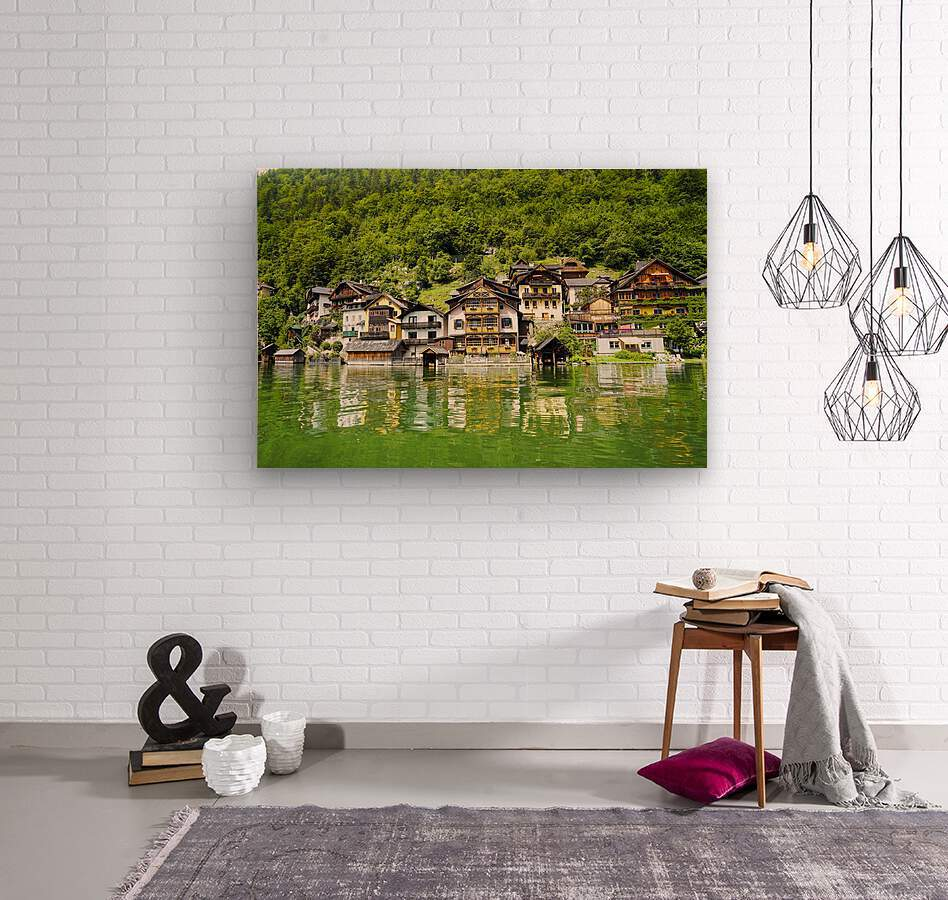 Snapshot in Time Hallstatt in the Upper Austria Alps 1 of 3  Wood print