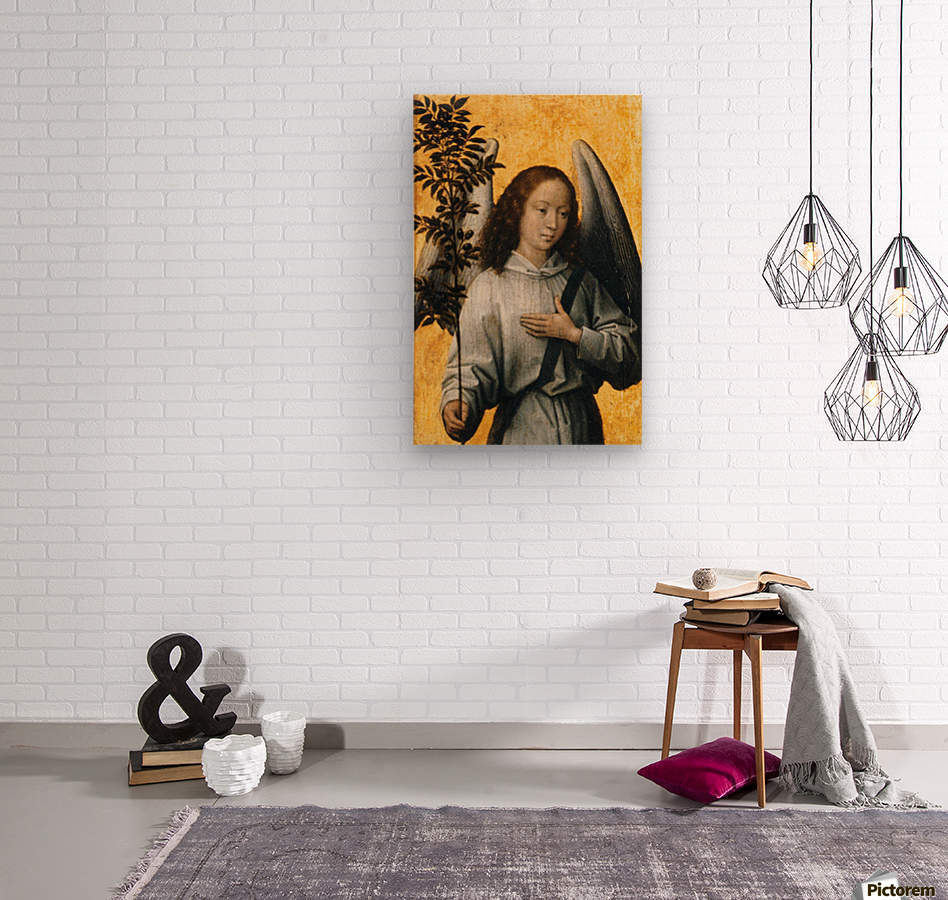 Angel with an Olive Branch Emblem of Divine Peace  Wood print