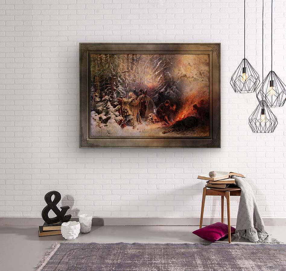 Ivan Susanin by Konstantin Makovsky Classical Fine Art Xzendor7 Old Masters Reproductions  Wood print