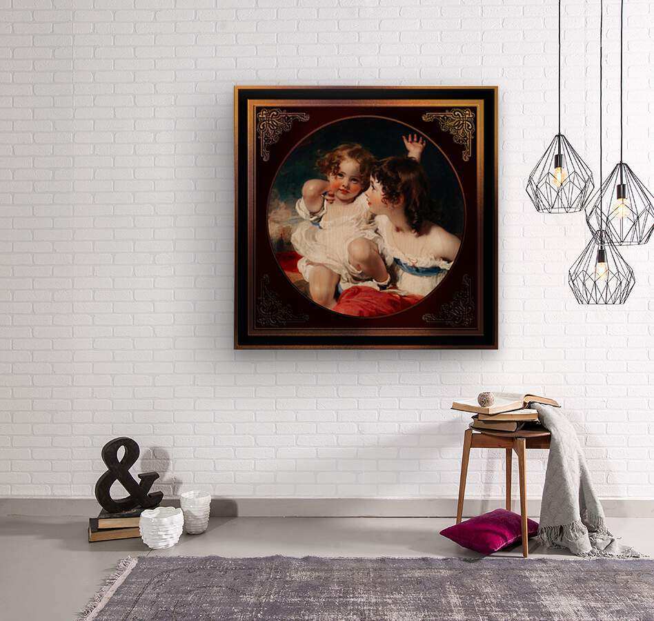 Nature - The Calmady Children by Sir Thomas Lawrence Classical Fine Art Xzendor7 Old Masters Reproductions  Wood print