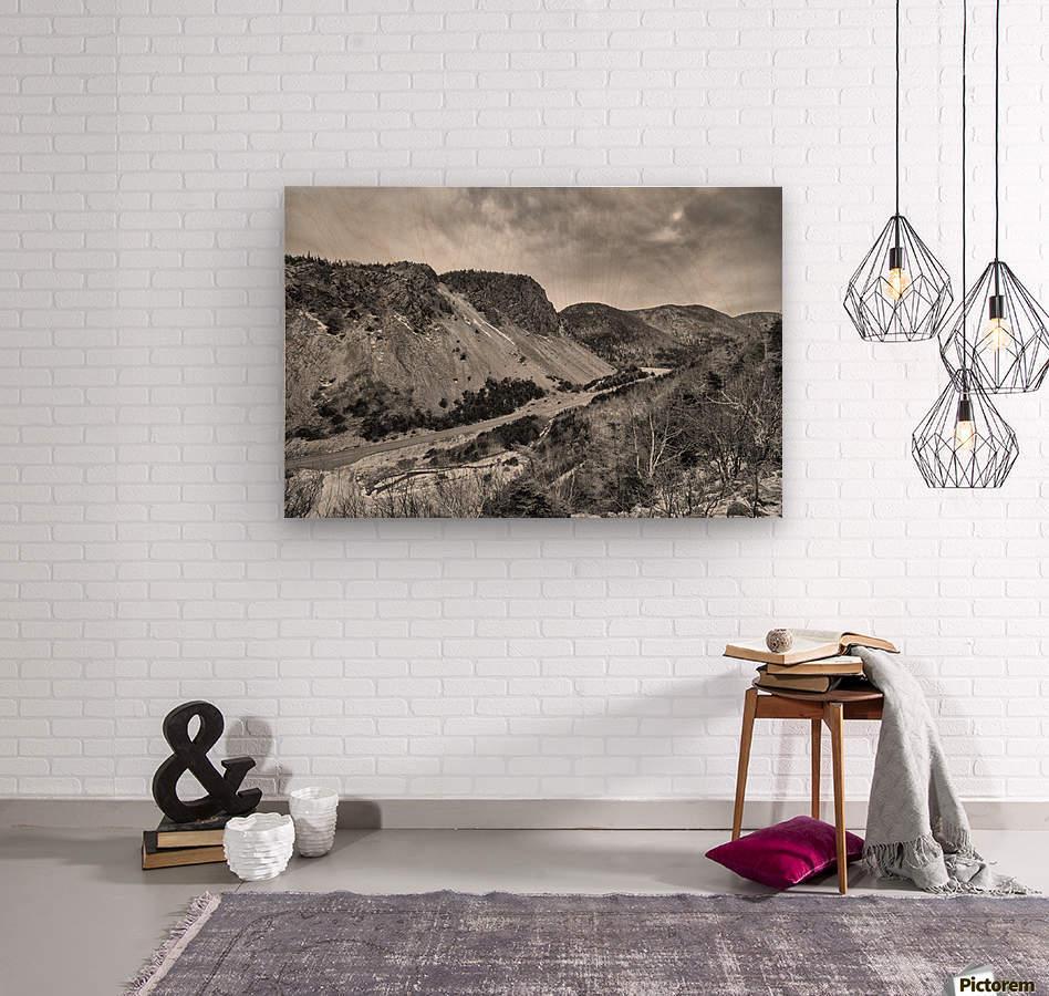 Cliffs of la Grande Falaise  Wood print
