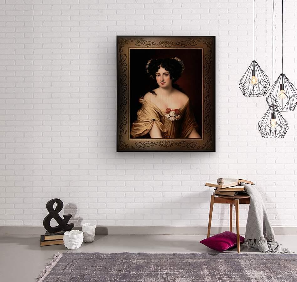 Portrait of Contessa Ortensia Ianna Stella by Jacob Ferdinand Voet Classical Fine Art Xzendor7 Old Masters Reproductions  Wood print