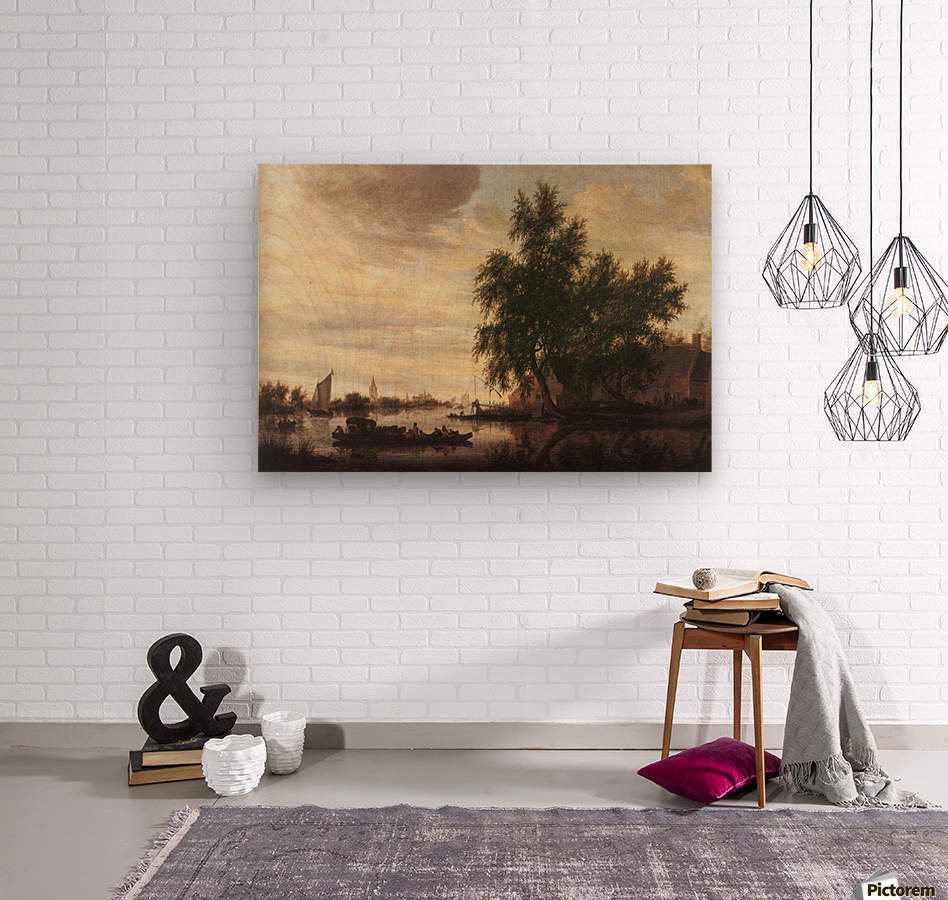 The Ferryboat  Wood print