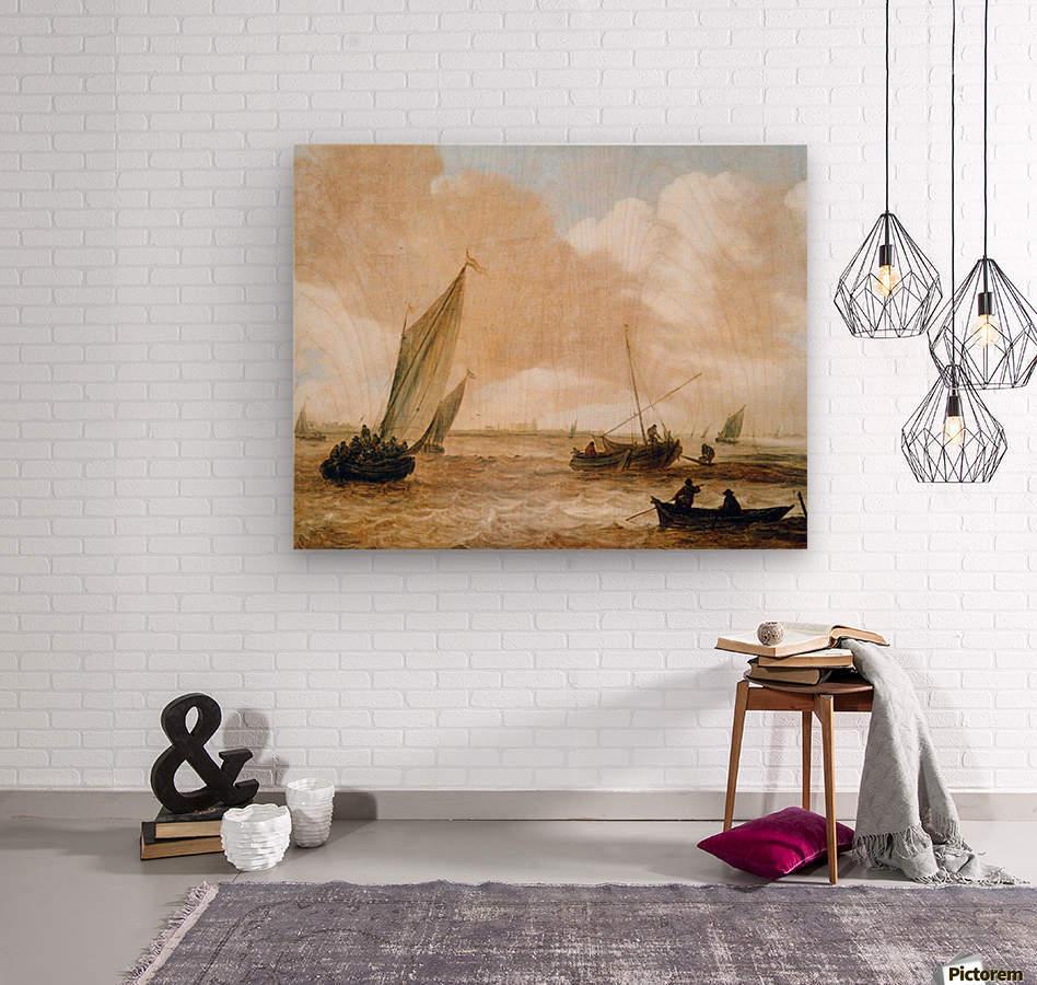 Riverscape Sun  Wood print