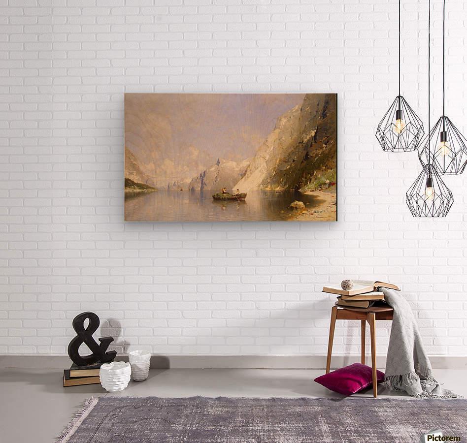 Fiord in Norway  Wood print