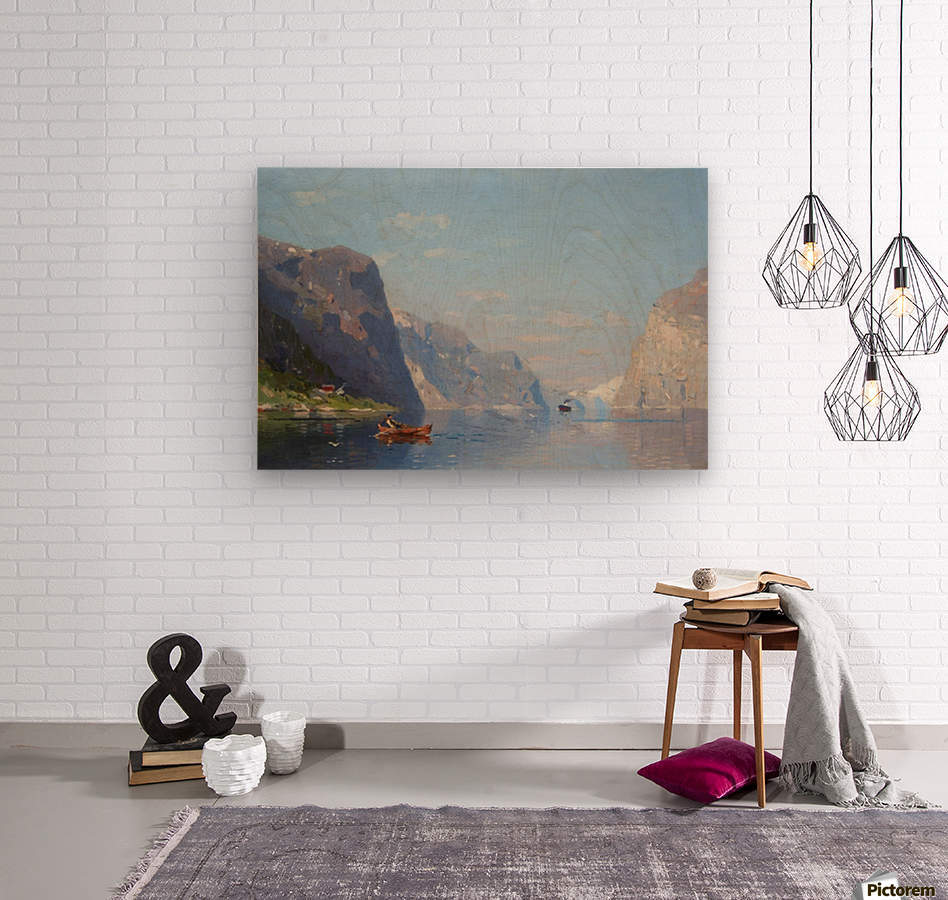 Two Norwegian Fjord Landscapes  Wood print