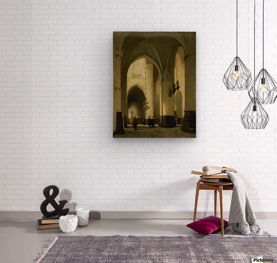 Interieur van de Grote of Sint Bavokerk te Haarlem  Wood print