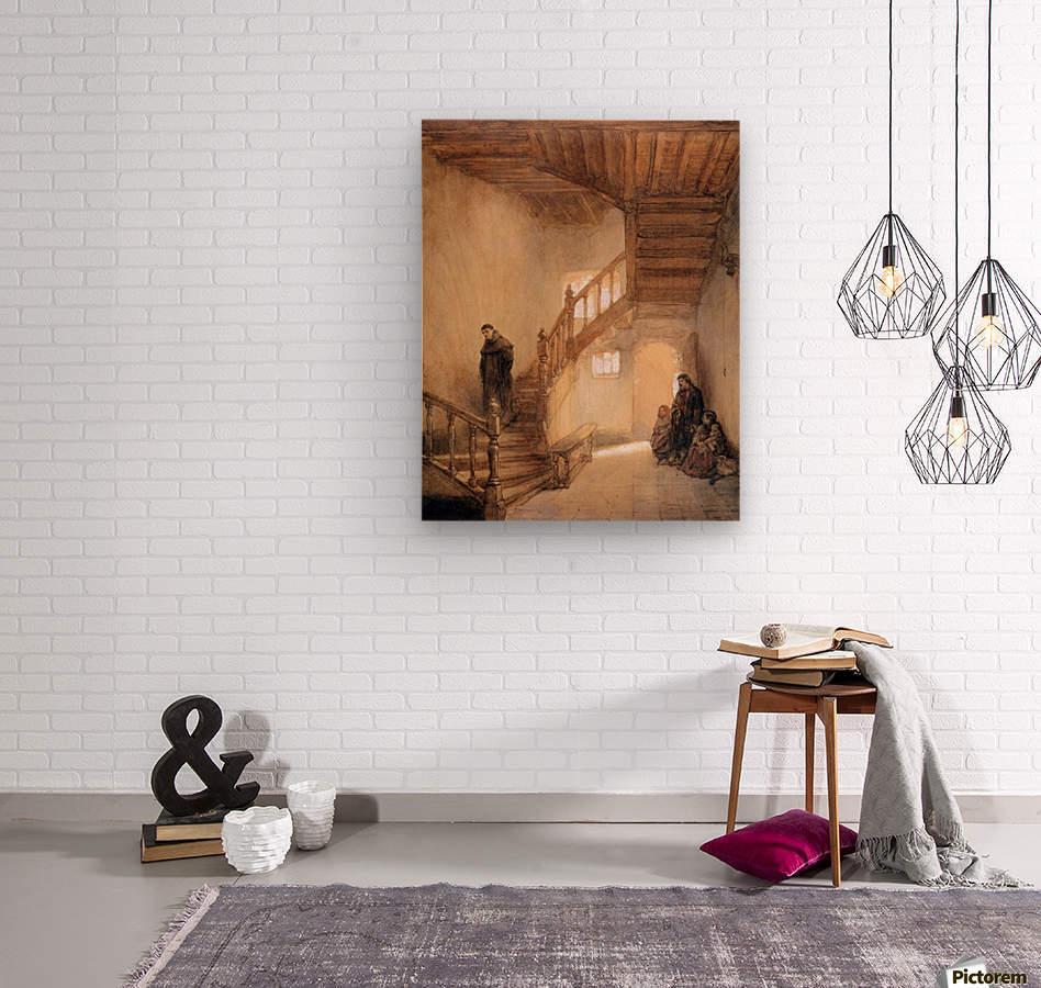 Cloister In Boxmeer Sun  Wood print