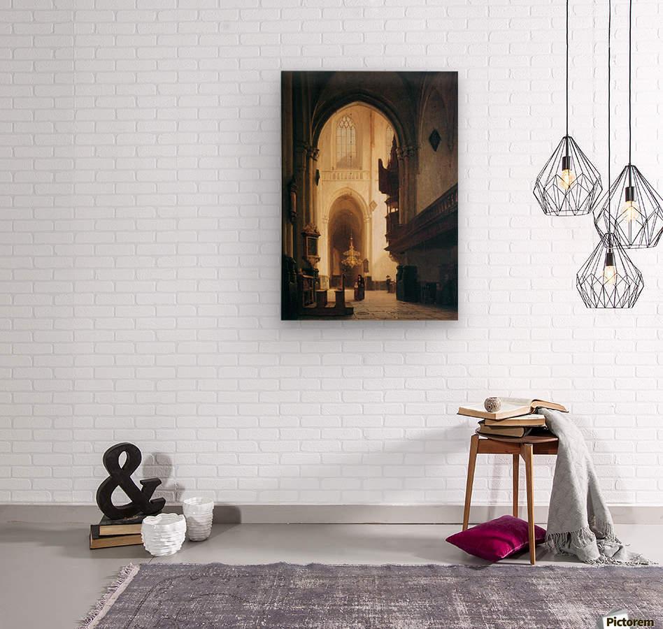 Hooglandse Kerk Leiden Sun  Wood print