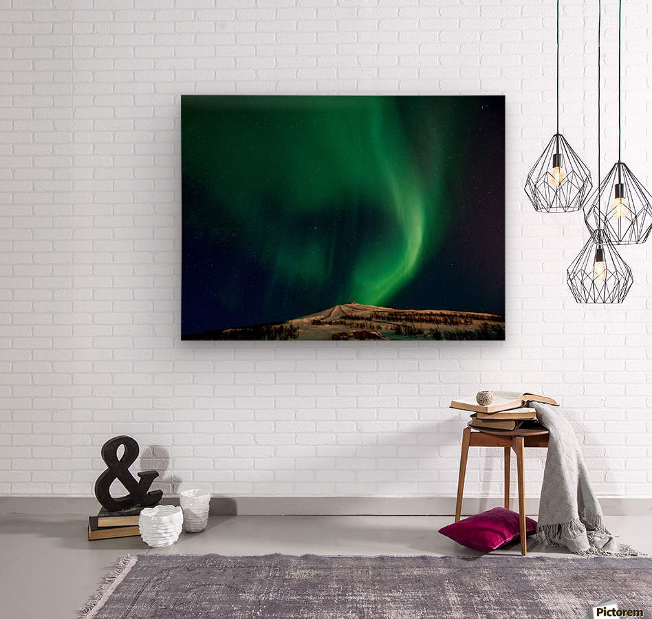 Aurora swirl  Wood print