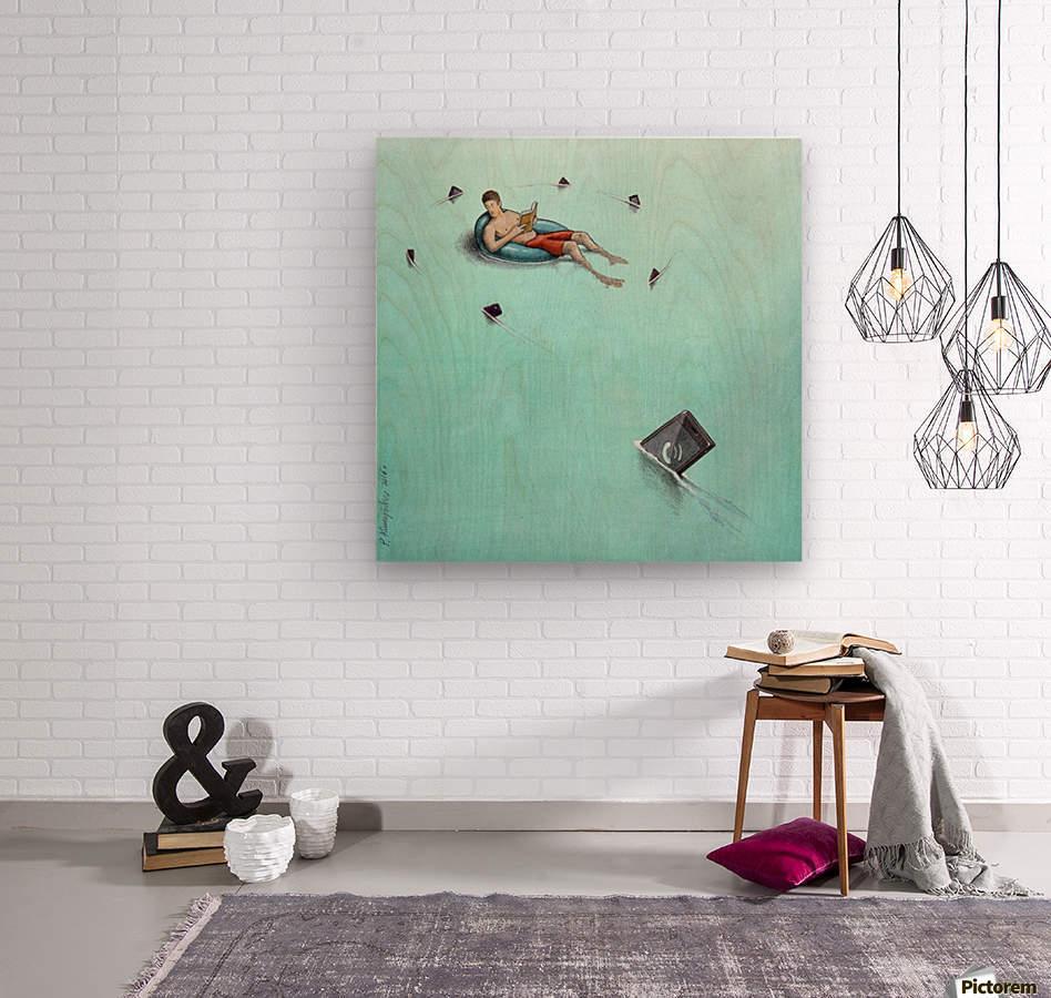 Sharks  Wood print