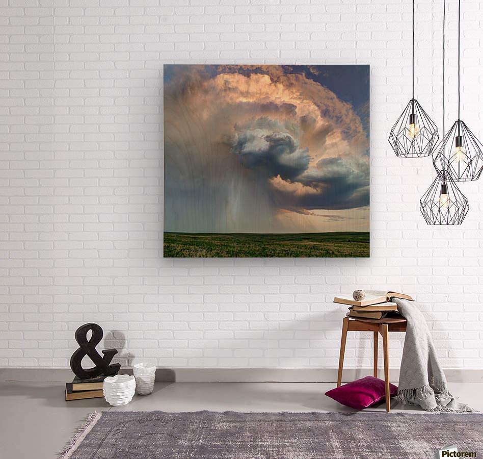 July Rain Storm  Wood print