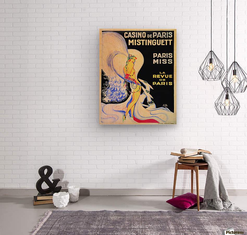 Casino De Paris Mistenguett vintage poster  Wood print