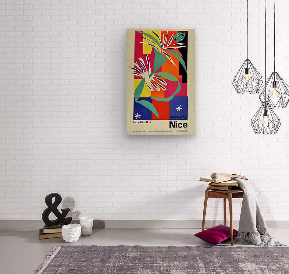 Henri Matisse Original vintage poster for Nice  Wood print