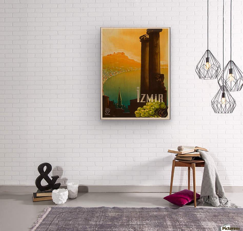 Turkey Izmir vintage travel poster  Wood print