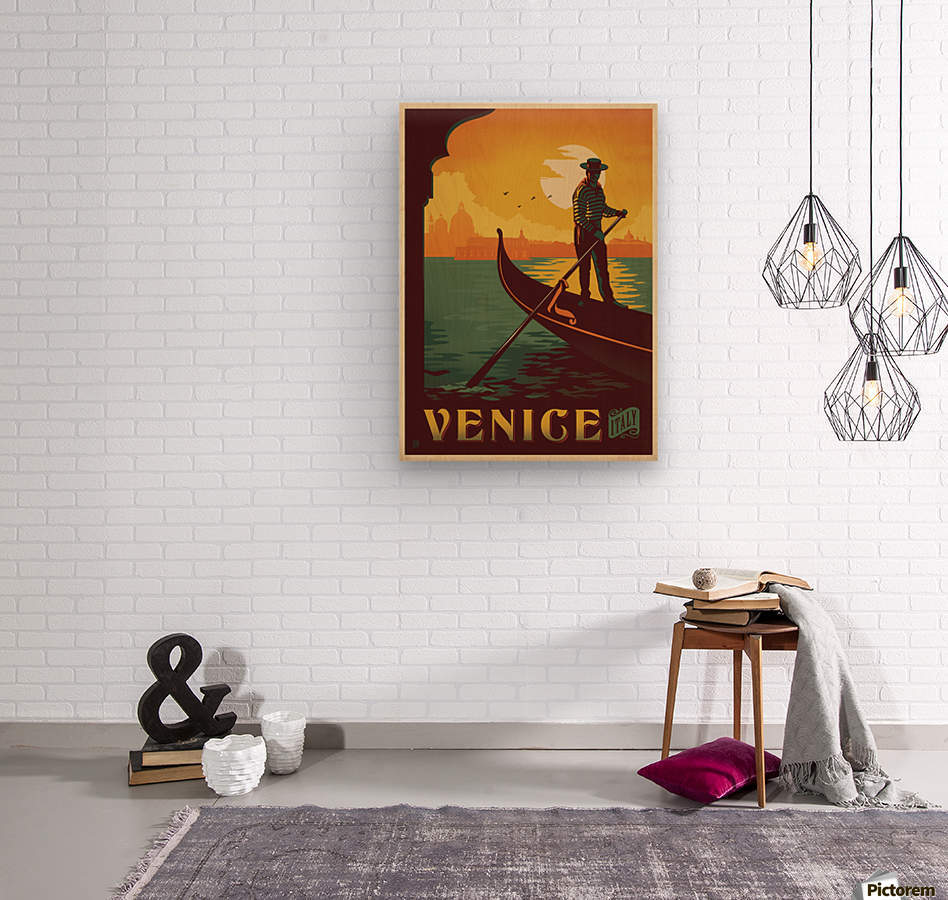 Venice vintage Italian poster - VINTAGE POSTER Canvas
