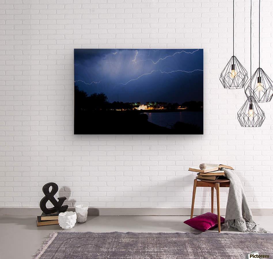 Chasing light  Wood print