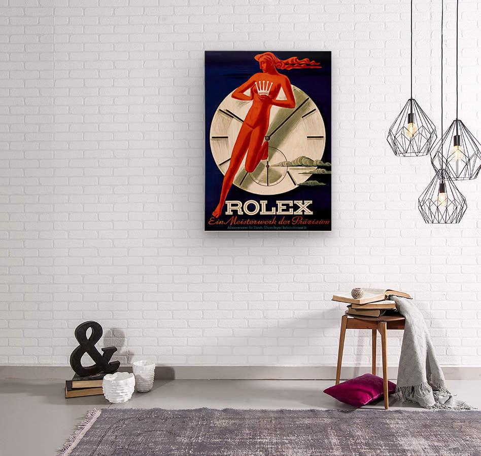 1942 Beyer Zurich Rolex Poster  Wood print