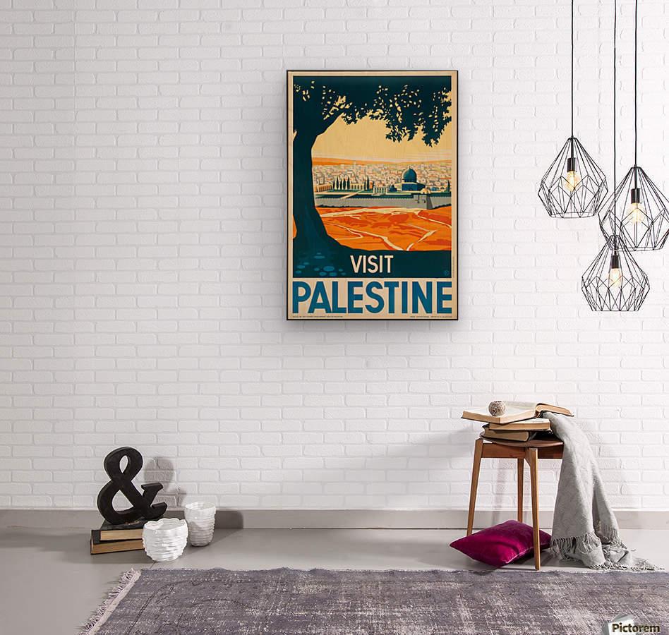 Visit Palestine travel poster - VINTAGE POSTER Canvas