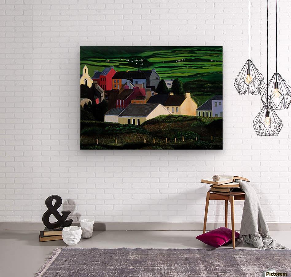 IRELAND VILLAGE  Wood print