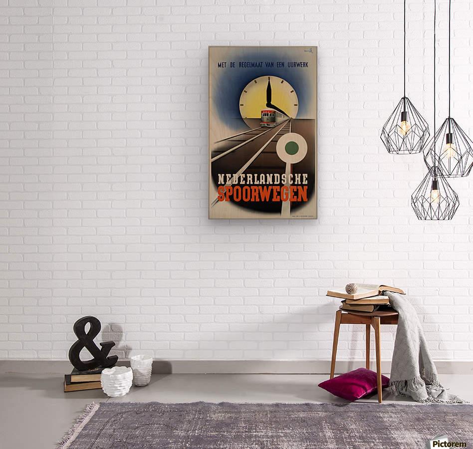 Nederlandse Spoorwegen Poster  Wood print