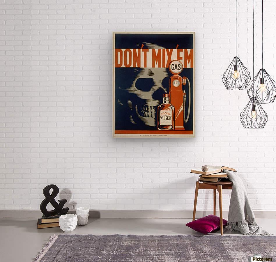 Dont mixem vintage poster  Wood print