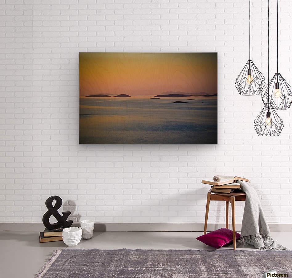 Adriatic islands  Wood print