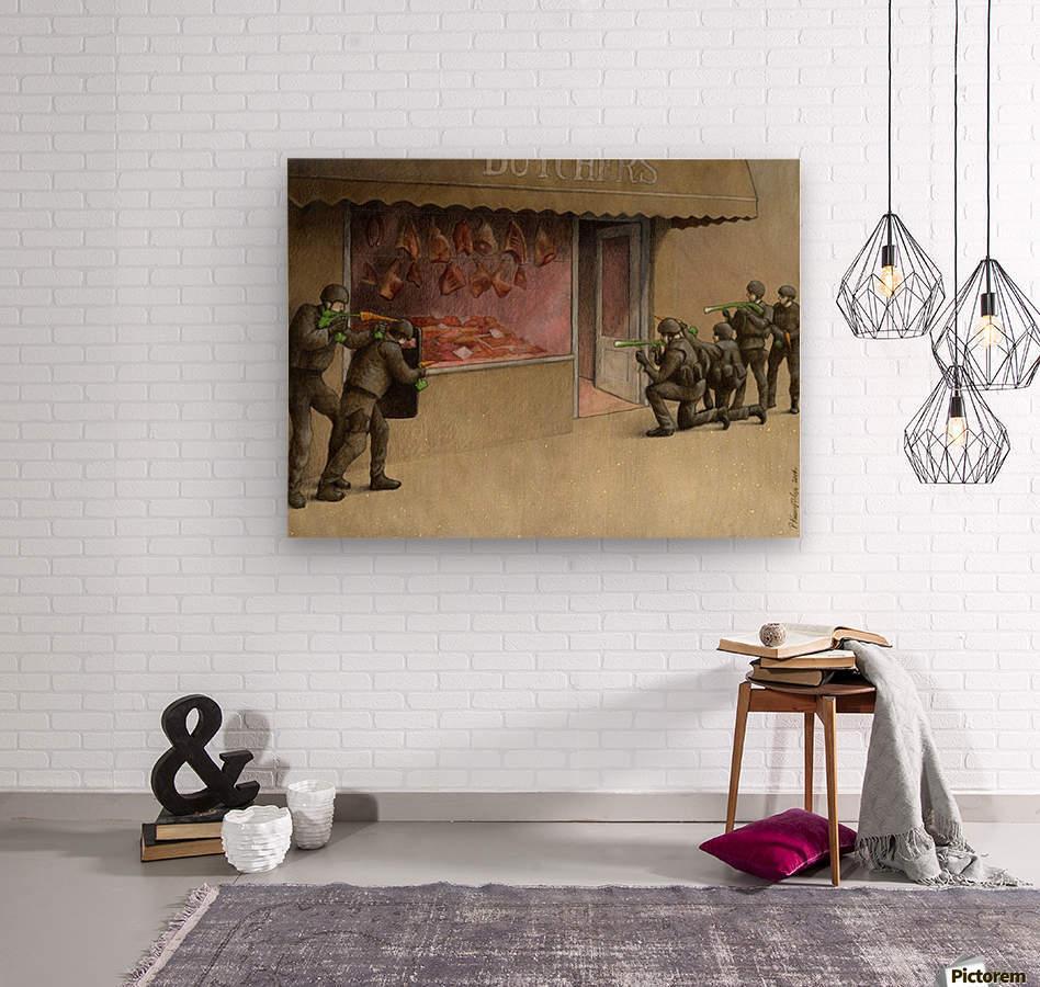 SWAT  Wood print