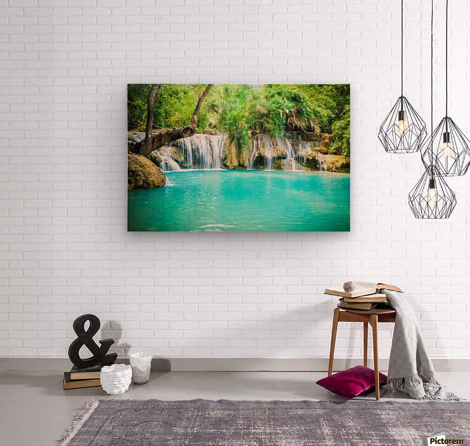 Luang Prabang waterfalls  Wood print