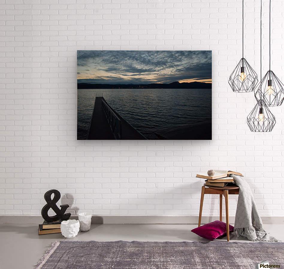 Dusky Dock on Champlain   Wood print