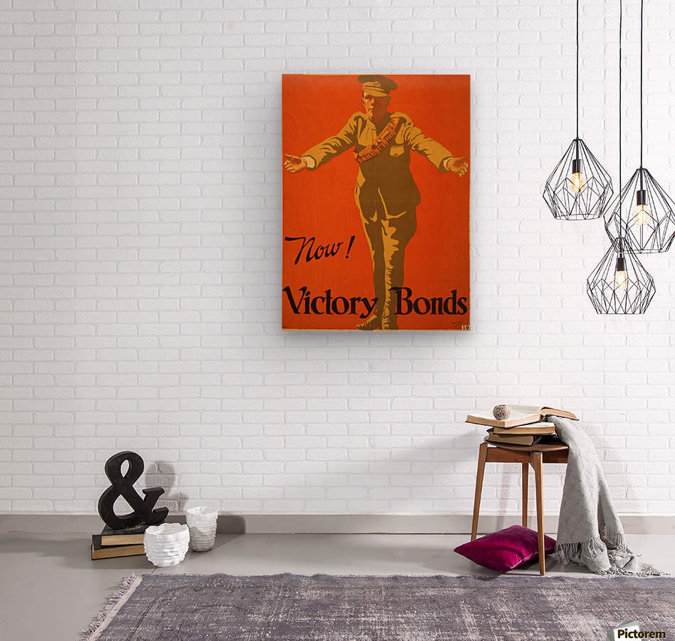 Buy Victory Bonds  Wood print