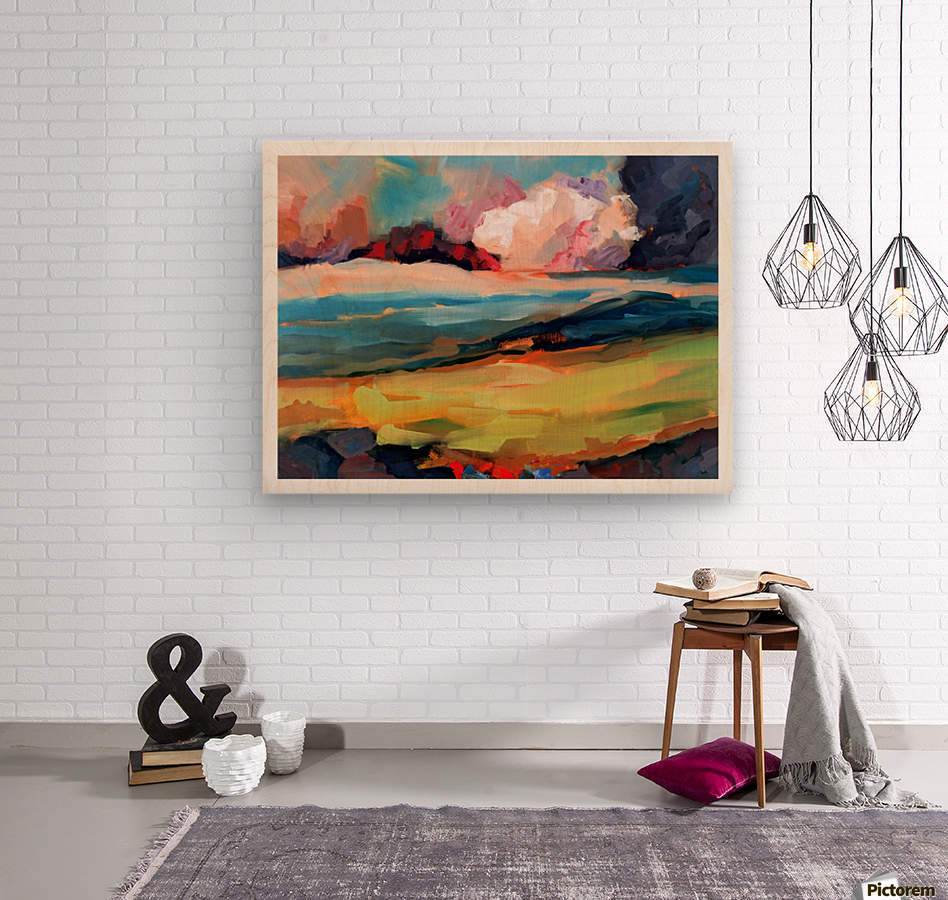 Dark Cloud  Wood print