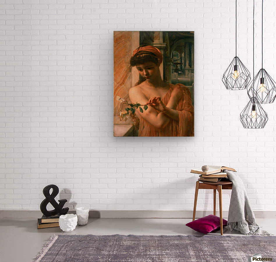 Psyche in the temple of love  Wood print