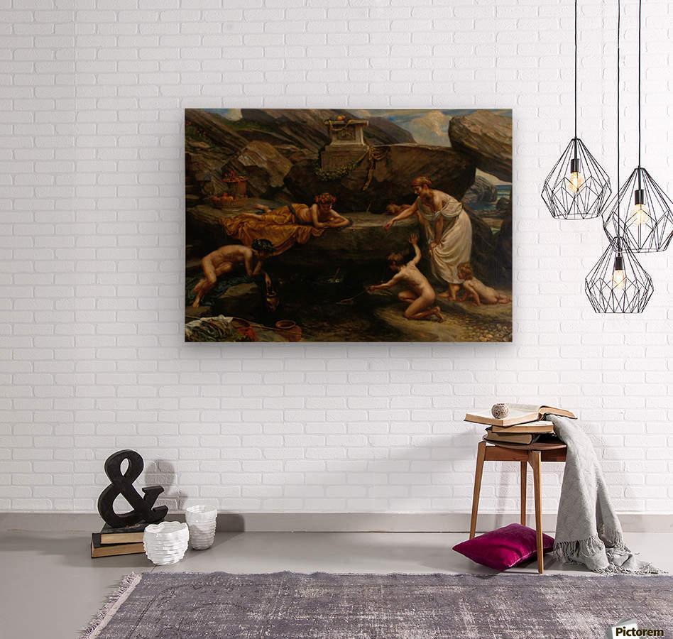 The wonders of of the deep  Wood print