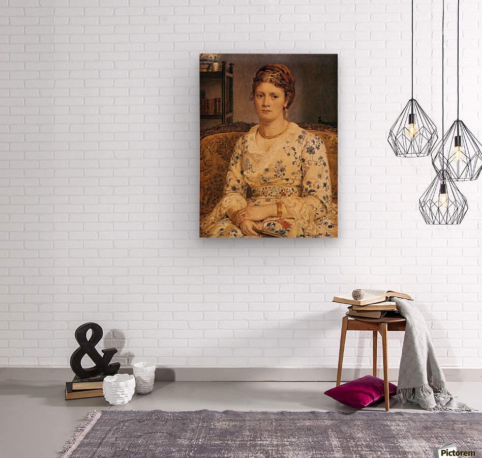 Portrait of Mrs J P Heselitine  Wood print
