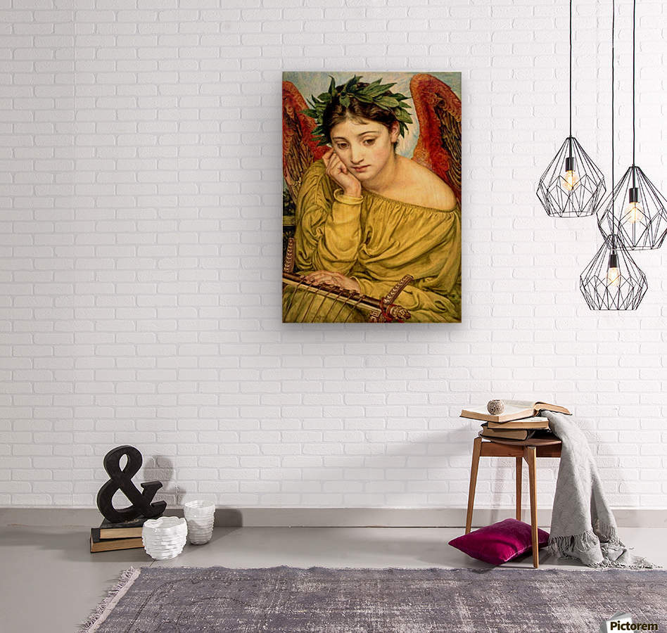 Erato, Muse of Poetry  Wood print