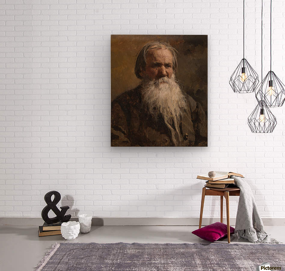 Portrait of an old man  Wood print